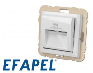 Prise chargeur USB double Efapel Logus 90