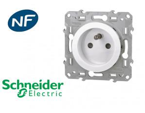 Prise de courant 2P+T 16A 2 connexions par pôle Schneider Odace