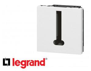 Prise téléphone en T 2 modules Legrand Mosaic composable