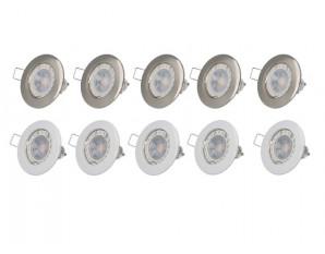 Lot de spot GU10 LED à encastré complet