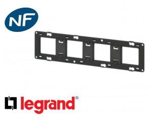 Support de fixation 4 postes Legrand Mosaic composable