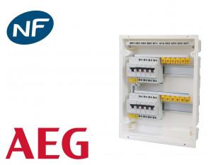 Tableau électrique pré équipé encastré 2 rangées à vis AEG