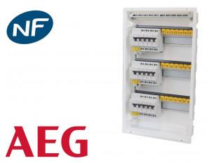 Tableau électrique pré équipé encastré 3 rangées à vis AEG