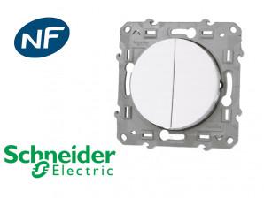 Poussoir + Interrupteur va-et-vient Schneider Odace