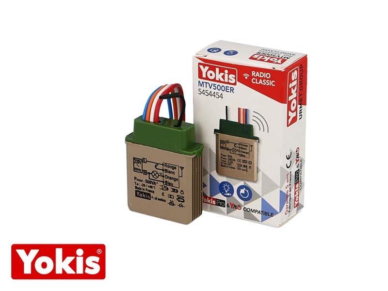 Télévariateur temporisable encastrable 500W  Yokis Classic