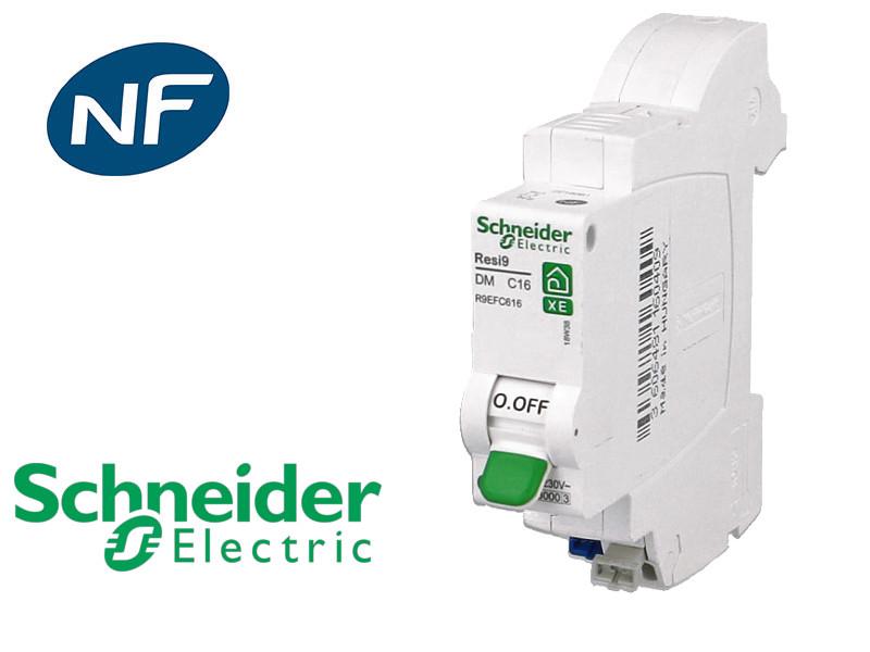 Disjoncteur DPN embrochable C16A Schneider Resi9 XE