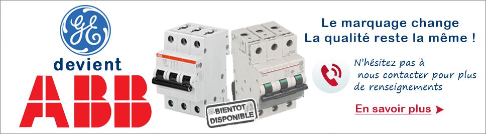 General Electric évolue en ABB en ventes sur bis-electric.com, votre distributeur de materiel electrique