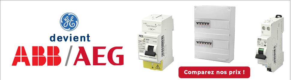 General Electric évolue en ABB AEG en ventes sur bis-electric.com, votre distributeur de materiel electrique