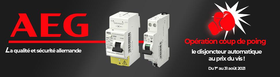 Promotion disjoncteur automatiques AEG au prix du disjoncteur a vis en vente sur bis-electric.com, votre distributeur de materiel electrique