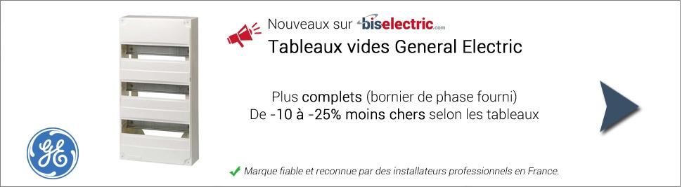 Nouveaux coffrets nus General Electric sur bis-electric.com