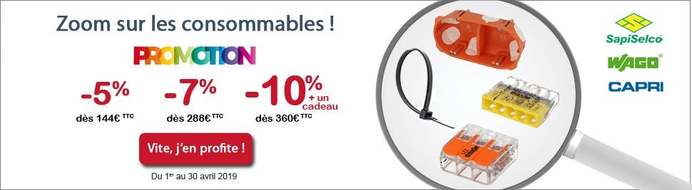 Découvrez la promotion sur tous les consommables électriques sur bis-electric.com