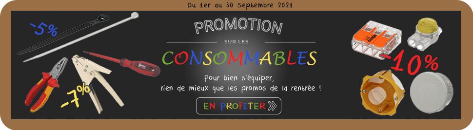 Profitez de notre promotion consommables sur bis-electric.com, votre distributeur de materiel electrique