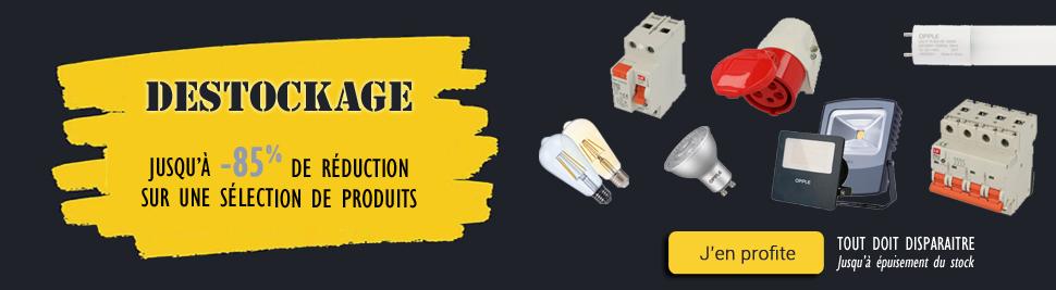 Lumière sur l'éclairage LED en déstockage sur bis-electric.com