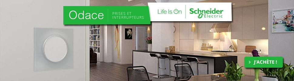 Découvrez notre nouvelle gamme d'interrupteur et prise ODACE Schneider Electric sur bis-electric.com