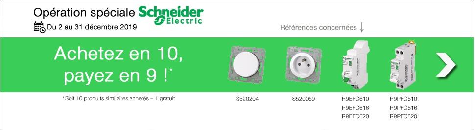 Schneider Electric, achetez en 10 payez en 9 sur bis-electric.com