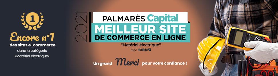Palmares Capital 2021 meilleur site e-commerce bis-electric.com, votre distributeur de materiel electrique