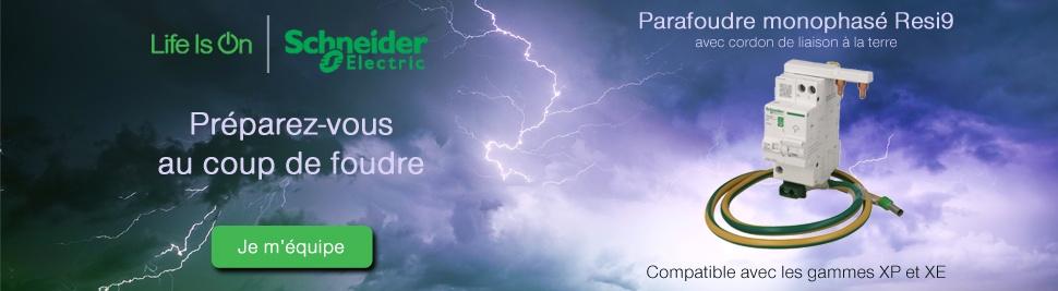 Préparez-vous au coup de foudre avec le parafoudre Schneider Electric sur bis-electric.com