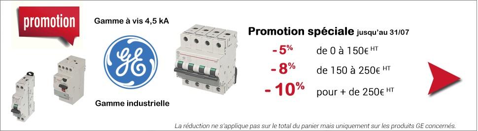 L'appareillage modulaire General Electric en promotion ce mois-ci sur bis-electric.com
