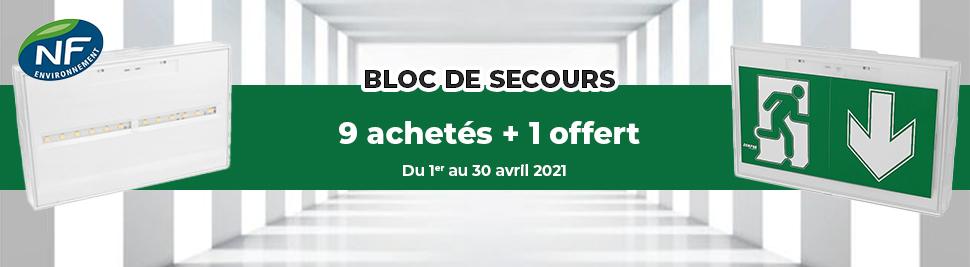 Promotion sur les blocs de secours en ventes sur bis-electric.com, votre distributeur de materiel electrique